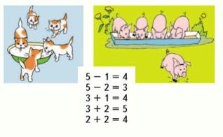 Страница 44 учебник Математика 1 класс 1 часть Моро задание 1