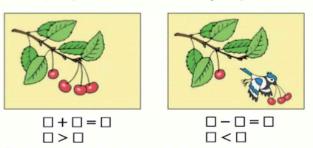 Страница 46 учебник Математика 1 класс 1 часть Моро задание 3