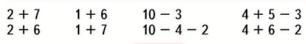 Страница 19 учебник Математика 1 класс 2 часть Моро задание внизу страницы