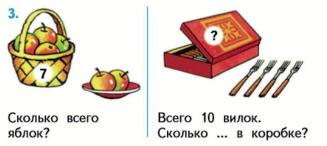 Страница 30 учебник Математика 1 класс 2 часть Моро задание 3