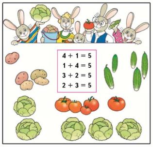 Страница 47 учебник Математика 1 класс 1 часть Моро задание 1