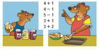 Страница 49 учебник Математика 1 класс 1 часть Моро задание 3