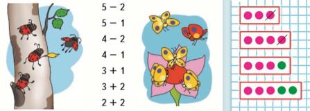 Страница 51 учебник Математика 1 класс 1 часть Моро задание 1