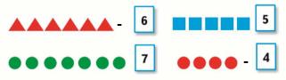 Страница 52 учебник Математика 1 класс 1 часть Моро задание 1 ответ