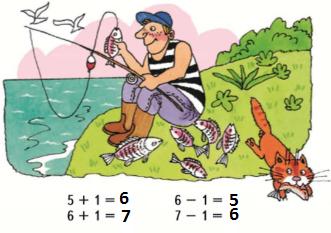 Страница 54 учебник Математика 1 класс 1 часть Моро задание 1 ответ