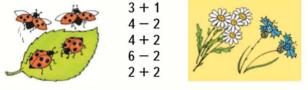 Страница 58 учебник Математика 1 класс 1 часть Моро задание 3
