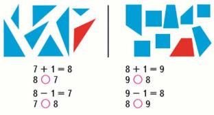Страница 58 учебник Математика 1 класс 1 часть Моро задание 1