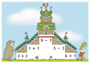 Страница 76 учебник Математика 1 класс 1 часть Моро задание задание 2