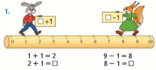 Страница 80 учебник Математика 1 класс 1 часть Моро задание задание 1