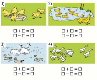 Страница 90 учебник Математика 1 класс 1 часть Моро задание 1