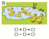Страница 90 учебник Математика 1 класс 1 часть Моро задание 1 ответ 1