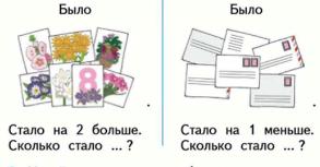 Страница 67 учебник Математика 1 класс 2 часть Моро задание 2